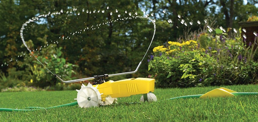 Простая система Дождеватель полив газон тракторного типа ороситель