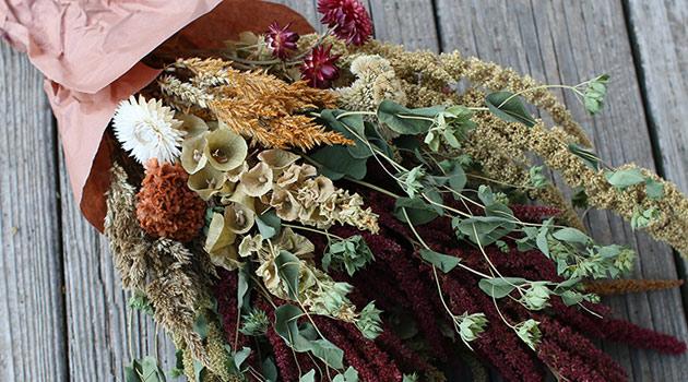 букет композиция сухоцветы сухие цветы